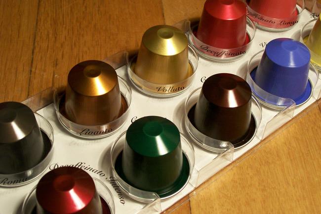 12 colour-coded varieties nespresso capsules