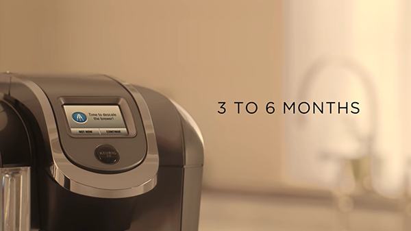 Keurig recommends descaling 2 to 4 times a year