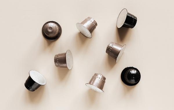 set of similar coffee capsule
