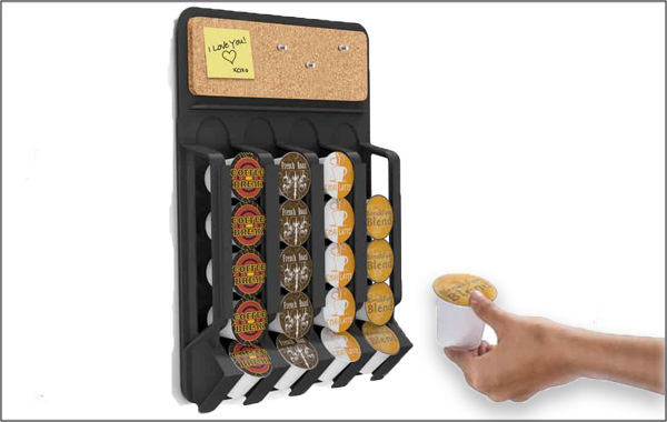 mind reader single-serve coffee cup storage unit for different brands