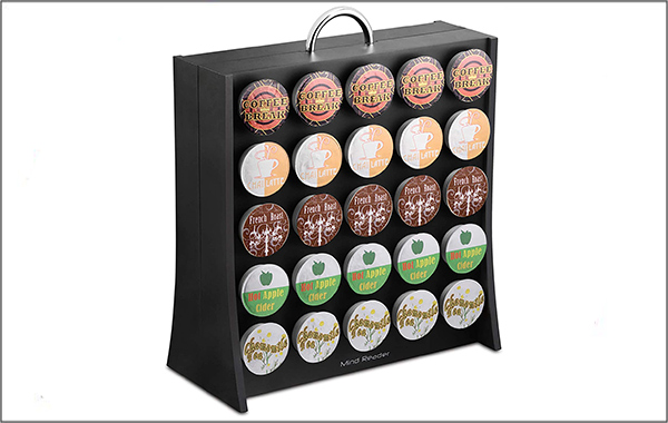 Mind reader plastic single-serve cup storage unit for different brands