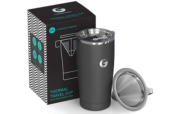 pour-over one cup coffee thermos
