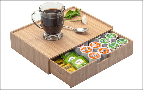 Wooden K-Cup holder compatible with different brands