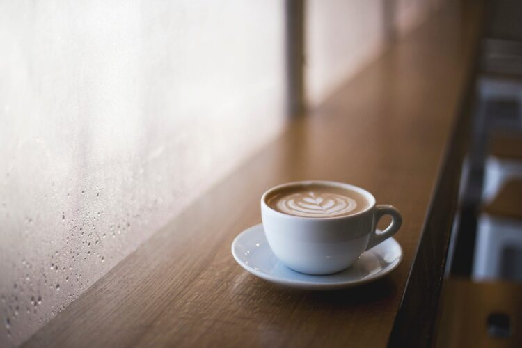 cup of coffee on a table
