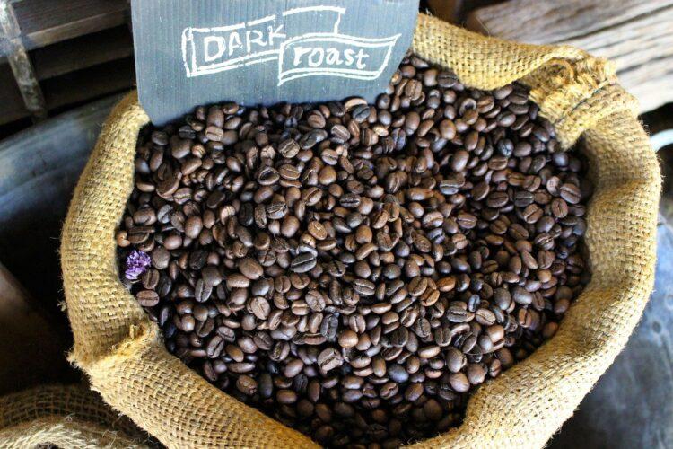 bag of columbian coffee arabica beans
