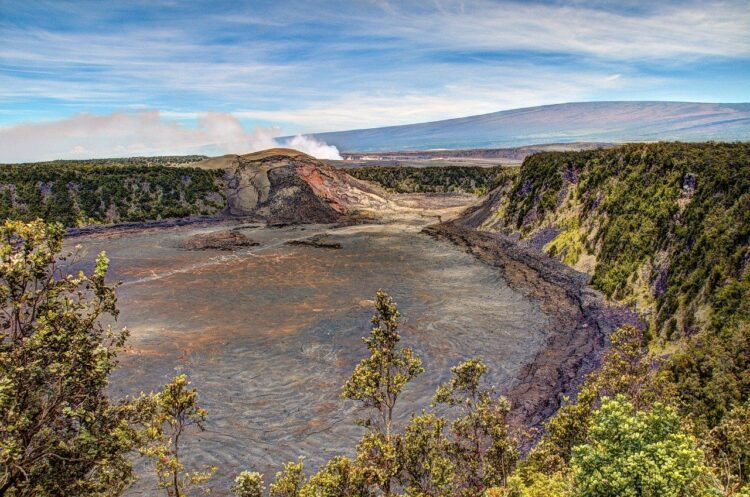 Kilauea Iki Crater on the big island of hawaii