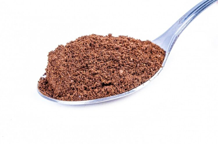 spoonful of instant coffee powder