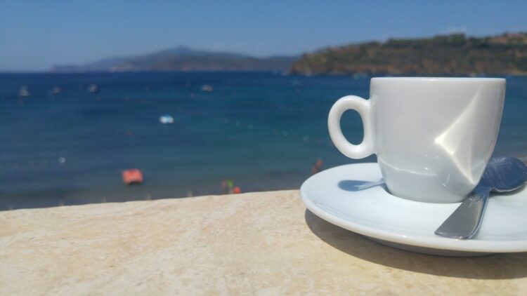 coffee on a beach